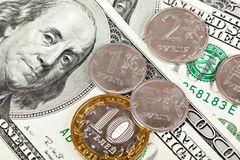 Dollar exchange rate Stock Image