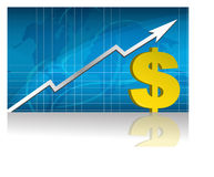 Dollar Exchange / Vector. Dollar currency trading graph.  file available Stock Images