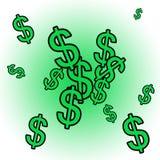 Dollar Explosion. Exploding Cash royalty free illustration