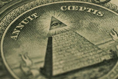 Dollar eye of the Pyramid Royalty Free Stock Images