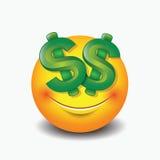 Dollar eyes emoticon, emoji, smiley - vector illustration Stock Photography
