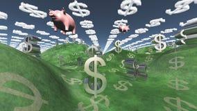 Dollar fält Arkivfoton