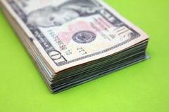 dollar för 10 bill Arkivfoto