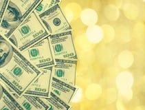 dollar för 100 amerikansk bills Fotografering för Bildbyråer