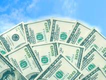 dollar för 100 amerikansk bills Arkivfoto