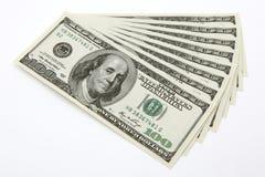 dollar för 100 bills Fotografering för Bildbyråer