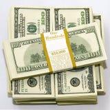 dollar för 100 bills Arkivbilder