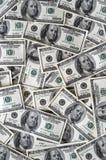 dollar för 100 bills mycket Royaltyfri Fotografi