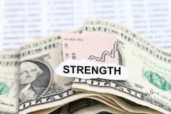 Dollar för affärsdiagram som får starkare Fotografering för Bildbyråer