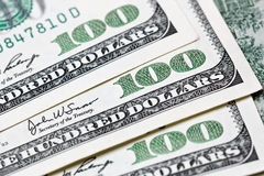 dollar för 100 bill Arkivbilder