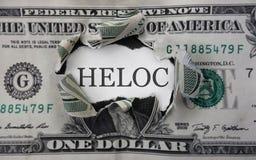 Dollar för lån för hem- rättvisa Royaltyfri Bild