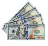 dollar 100 factureert naadloos Royalty-vrije Stock Foto's