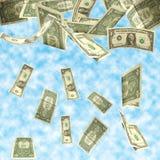 dollar fall Royaltyfria Bilder
