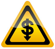 Dollar fall in exchange Royalty Free Stock Photo