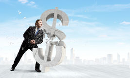 Dollar fall Royalty Free Stock Images