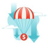 Dollar falling Stock Images