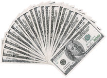 Dollar fan Stock Photography