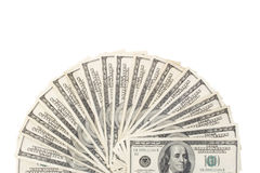 Dollar fan Royalty Free Stock Photography