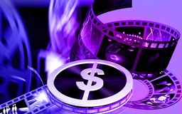 Dollar film roller. Digital illustration of dollar film roller Royalty Free Stock Photos