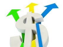 Dollar finance growth Stock Images