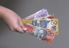 dollar fistfull Royaltyfri Bild
