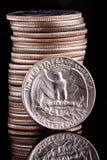 dollar fjärdedel oss Royaltyfria Foton