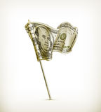 Dollar flag. Illustration on a white background Royalty Free Stock Photo
