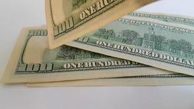 Dollar, Fliege, Zeitlupezählungsfinanzierung stock video footage