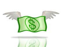 dollar flyga vektor illustrationer