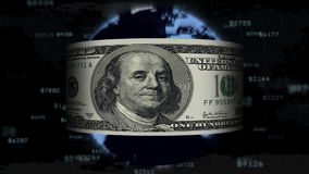 The dollar is flying around the planet, loopable