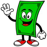 Dollar with Foam Finger. Vector illustration of a Dollar with a Foam Finger Royalty Free Stock Photos