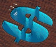 Dollar formé de piscine Images libres de droits