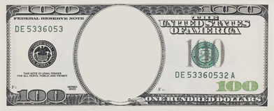 Dollar frame Royalty Free Stock Photo