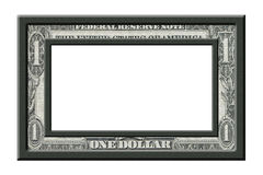 Dollar Frame. Dollar picture frame on white background Stock Image