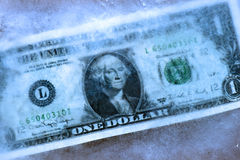 Dollar freeze Stock Photography