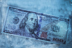 Dollar frozen Stock Photos