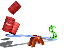 Dollar and fuel Stock Photography