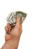 dollar full hand Arkivfoton