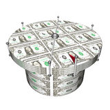 Dollar game table of choice of the best, 3d Stock Image
