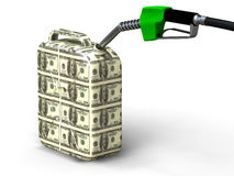 Dollar gas can Stock Images