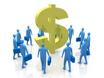 Dollar Gathering Royalty Free Stock Photo