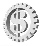 Dollar gear Royalty Free Stock Photos