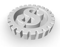 Dollar gear Royalty Free Stock Images