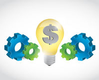 Dollar gears icon concept illustration Stock Photo