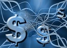 Dollar-Geldüberweisung. Lizenzfreie Stockbilder