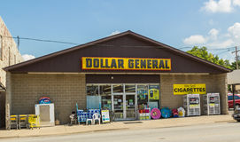 Dollar General Store. A small town local Dollar General store Royalty Free Stock Image