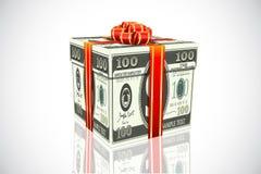 Dollar-Geschenk stock abbildung