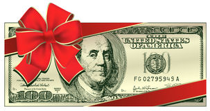 Dollar gift Royalty Free Stock Photography