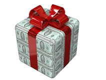 Dollar gift. For a NY party Royalty Free Stock Photography