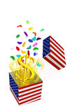 Dollar a gift Royalty Free Stock Photo